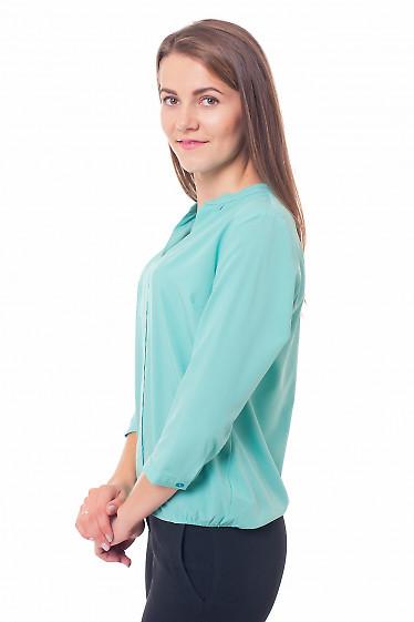 Купить блузку мятного цвета Деловая женская одежда фото