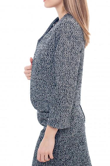 Купить теплое болеро из серого твида Деловая женская одежда фото