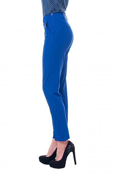 Купить брюки электрик с молнией сбоку Деловая женская одежда фото