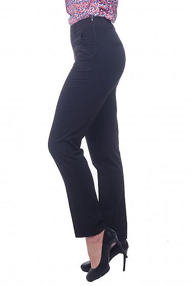Купить черные брюки с застежкой сбоку Деловая женская одежда фото
