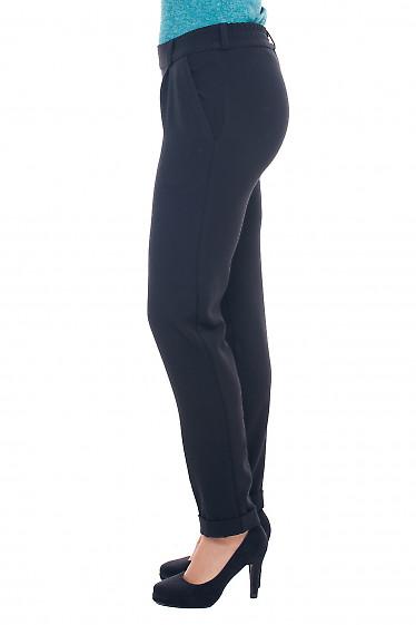 Купить брюки теплые черные на резинке Деловая женская одежда фото