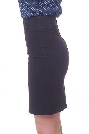 Купить черную юбку со шлевками Деловая женская одежда фото