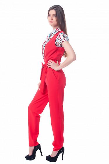 Купить красный комбинезон Деловая женская одежда фото