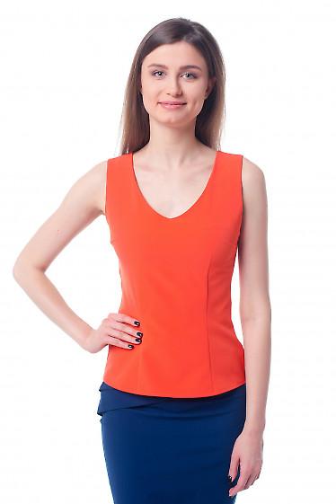 Оранжевый топ Деловая женская одежда фото