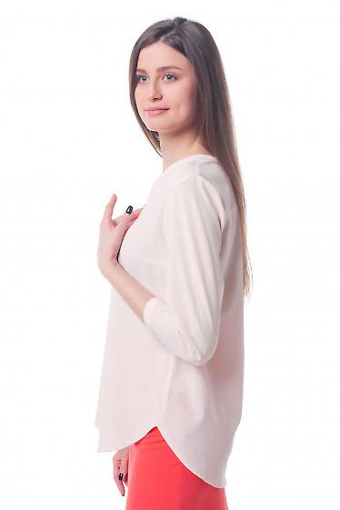 Купить бледно-розовую блузку Деловая женская одежда фото