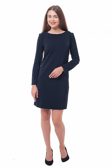 Купить платье темно-синее прямое Деловая женская одежда фото