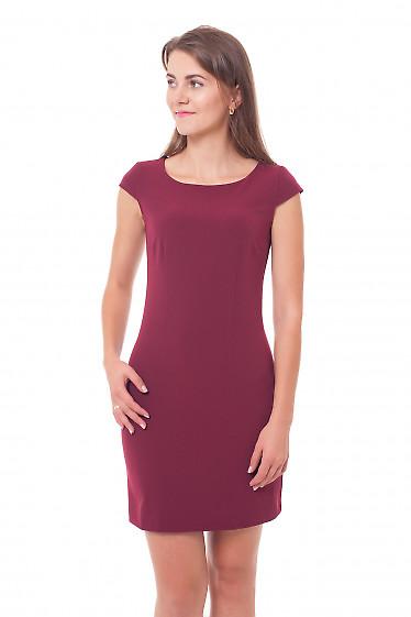 Купить платье теплое бордовое Деловая женская одежда фото