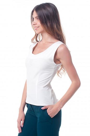 Купить топ молочный, приталенный Деловая женская одежда фото