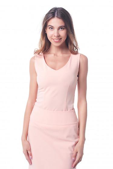 Топ персиковый, приталенный Деловая женская одежда фото