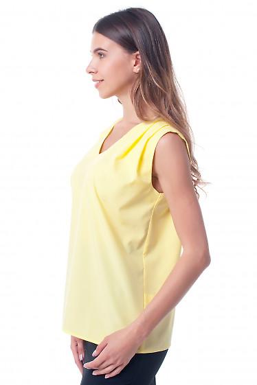 Купит желтый топ с защипами на плече Деловая женская одежда фото