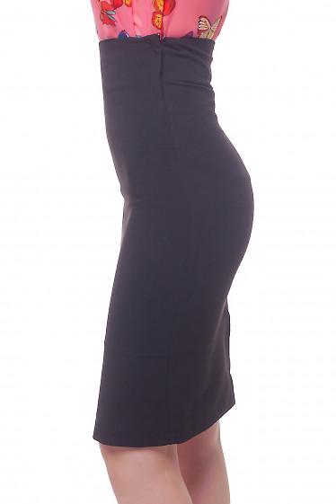 Купить черную юбку-карандаш с высокой талией Деловая женская одежда фото