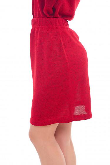Купить юбку красную трикотажную Деловая женская одежда фото
