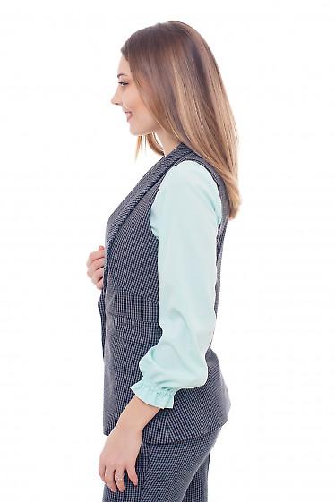Жилет удлиненный в коричневую полоску Деловая женская одежда фото
