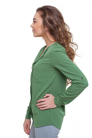 Блузка болотного цвета Деловая женская одежда фото