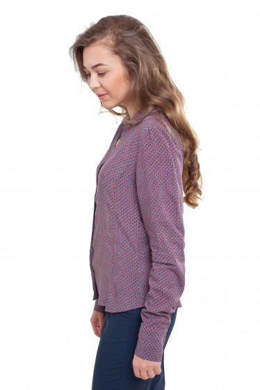 Блузка с длинным рукавом Деловая женская одежда фото