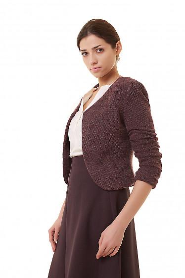 Купить болеро теплое из бордового трикотажа Деловая женская одежда фото