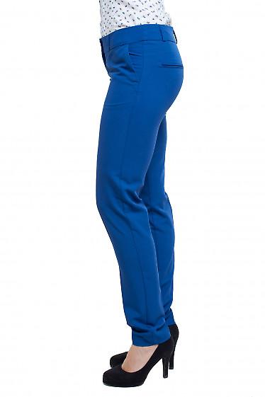 Брюки синие Деловая женская одежда фото