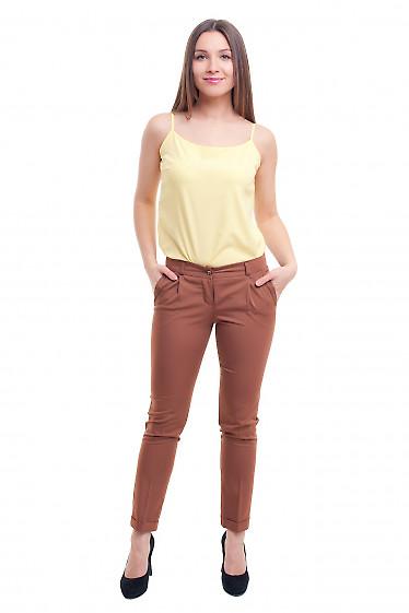 Женские коричневые брюки Деловая женская одежда фото