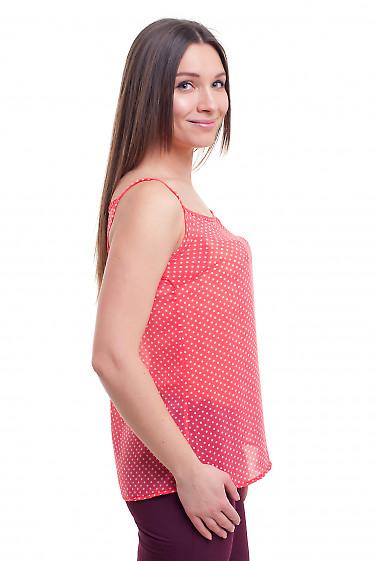 Купить топ розовый на токих бретелях  Деловая женская одежда фото