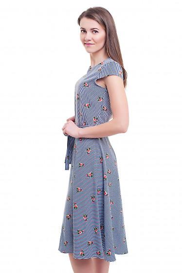 Купить платье миди в полоску Деловая женская одежда фото