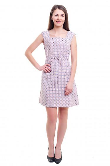 Купить платье розовое с кулисой под грудью Деловая женская одежда фото