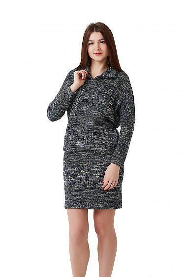 Купить теплое платье с юбкой мини Деловая женская одежда фото