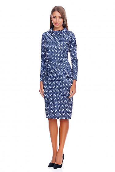 Теплое платье Деловая женская одежда фото