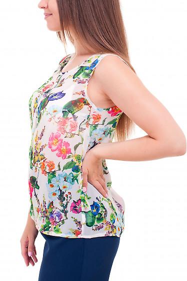 Купить топ шифоновый в птицы Деловая женская одежда фото