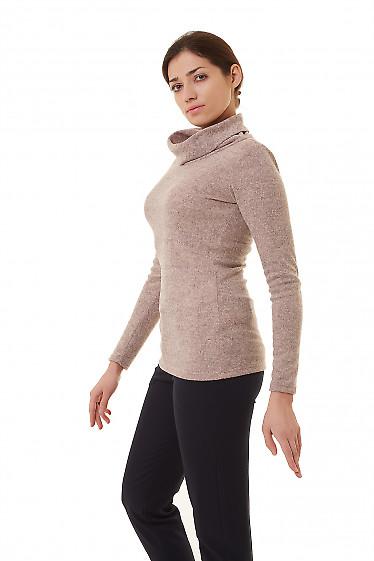 Купить теплую тунику с воротником Деловая женская одежда фото