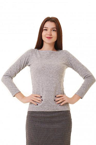 Туника серая теплая Деловая женская одежда фото