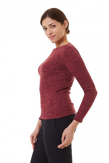 Купить теплую бордовую тунику Деловая женская одежда фото