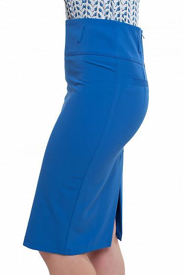 Юбка цвета электрик Деловая женская одежда фото