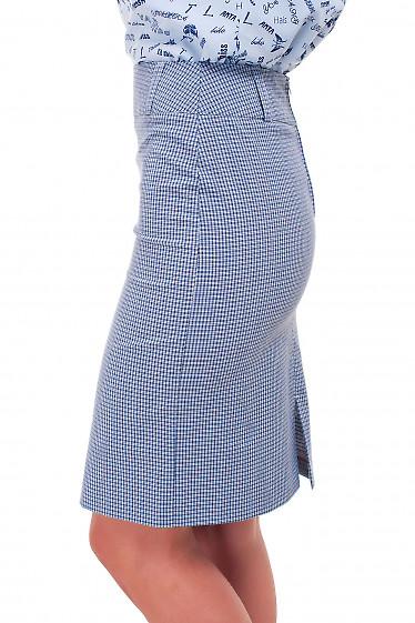 Купить строгую юбку в клеточку Деловая женская одежда фото