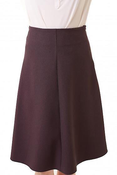 Юбка трапеция в бордовую лапку Деловая женская одежда фото