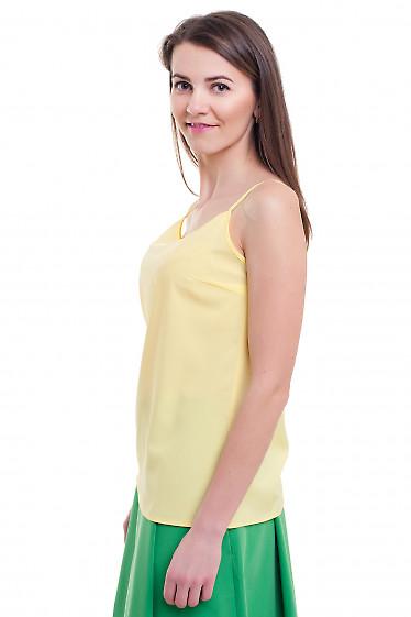 Купить желтый топ на тонких бретелях Деловая женская одежда фото