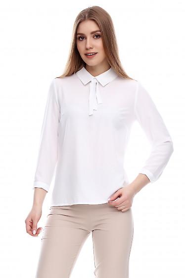 Блузка с завязками Деловая женская одежда фото