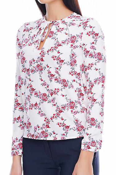 Блузка на завязках Деловая женская одежда фото