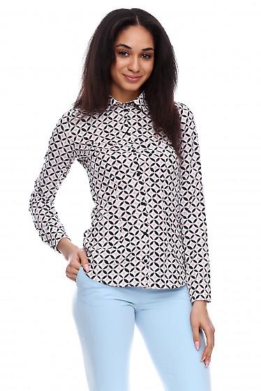 Купить блузку в розовую геометрию