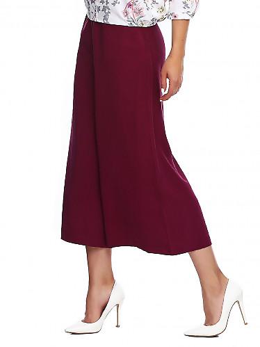 Купить брюки кюлоты бордовые. Деловая женская одежда фото