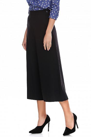 Купить брюки кюлоты черные. Деловая женская одежда фото
