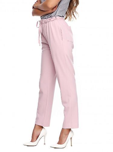 Купить брюки розовые на резинке. Деловая женская одежда фото
