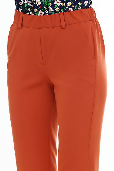 Купить брюки рыжие на резинке Деловая женская одежда фото