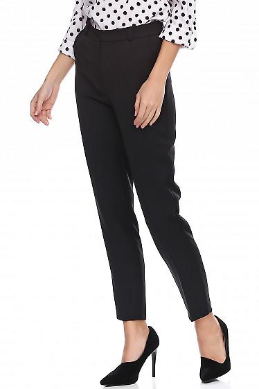Купить брюки женские утеплённые черные. Деловая женская одежда фото