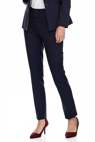 Купить брюки женские в мелкую синюю клетку. Деловая женская одежда фото