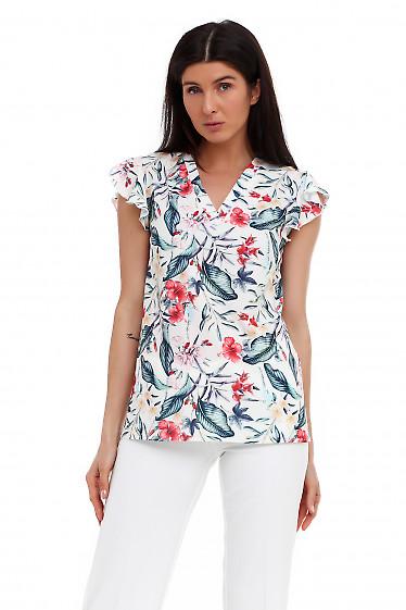 Молочная блузка с мысиком Деловая женская одежда фото