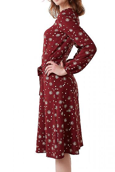 Купить платье из бордового крепа Деловая женская одежда фото