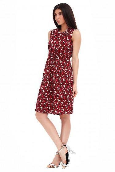 Купить платье бордовое с мысиком Деловая женская одежда фото