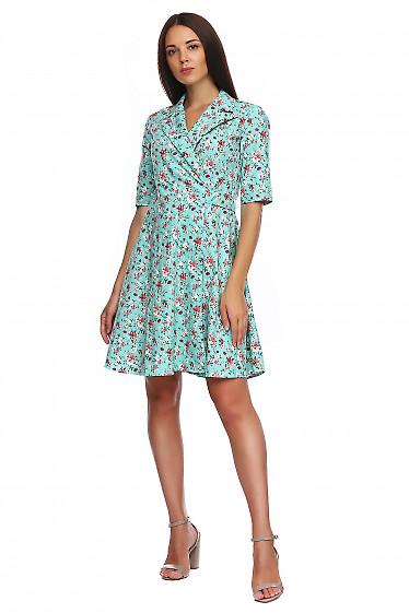 Платье льняное на запах. Деловая женская одежда фото