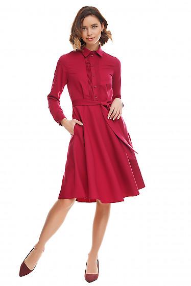 Купить малиновое платье Деловая женская одежда фото
