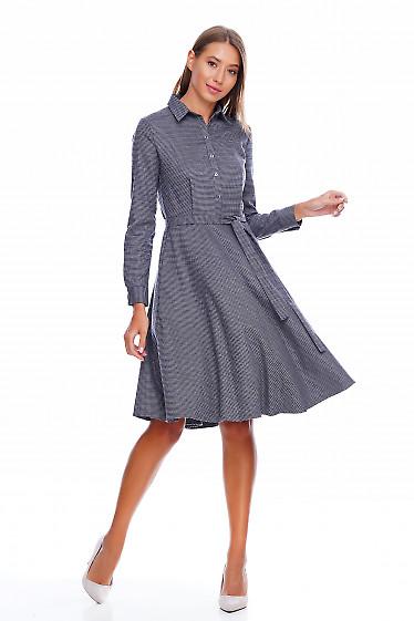 Платье пышное в лапку Деловая женская одежда фото